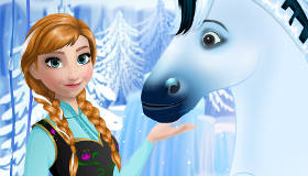 Anna Frozen Horse Riding