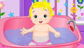 Cute Baby in the Bath
