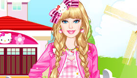 Hello Kitty Dress Up With Barbie