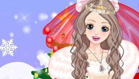 Christmas Bride Dress Up