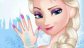 Elsa Frozen Manicure