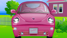 Cleaning Barbie's Car