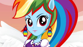 Equestria Girls Rainbow Dash Dress Up