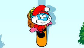 Smurfs Christmas Skiing