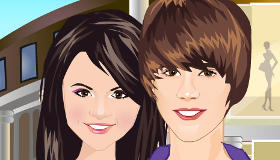 Justin Bieber and Selena Gomez Go Shopping