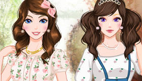 Twins Spring Dress Up