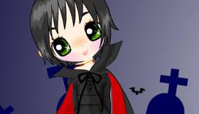Vampire Princess at Halloween